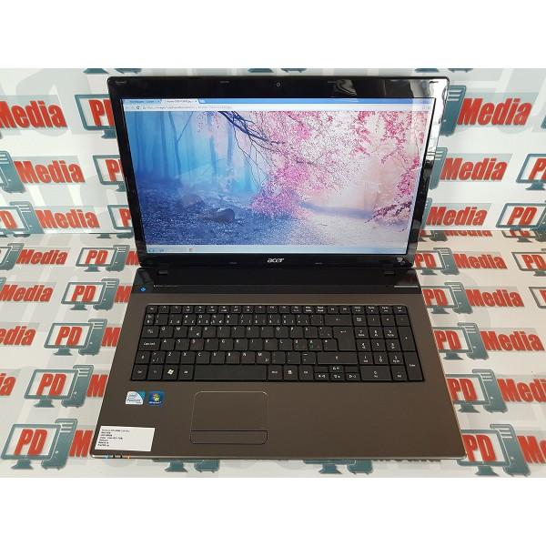 """Laptop Acer Aspire 7750, Intel B960 2.20GHz 17.3"""" 1600 x 900 RAM 4GB HDD 250 GB HDMI DVD RW Web Cam"""