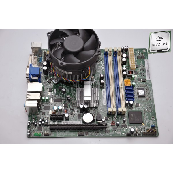 Kit Placa de baza Socket 775 DDR3 Acer G43D01 Intel G43 + Procesor Quad Q6600 Cooler Cadou