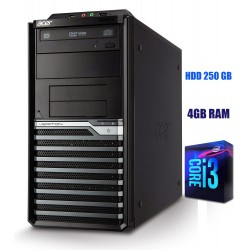 Calculator Acer I3-2100 3.1 GHz 4Gb RAM DDR3 HDD 250 GB DVD