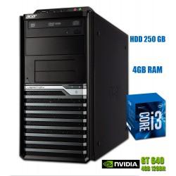 Calculator Acer I3-2100 3.1GHz 4GB RAM DDR3 HDD 250 GB DVD Video 4GB