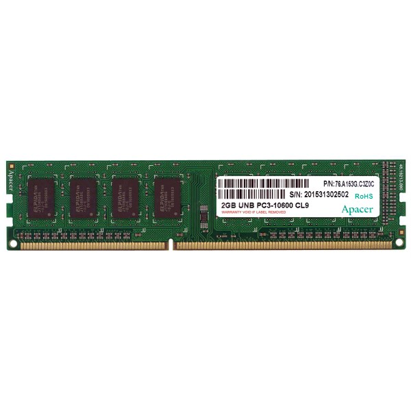 Memorie RAM DDR3 Calculator Apacer 2GB PC3-10600 1333MHz non-ECC CL9