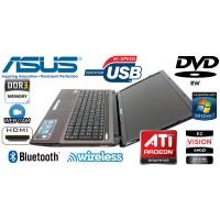 Laptop Asus X53B AMD E450 1.65GHz RAM 6 GB HDD 500 GB Radeon 7470M 1GB DVD-RW Wi-Fi