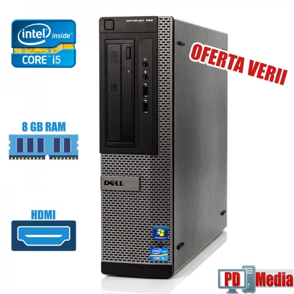 Calculator i5 2400 3.10 GHz 8 GB DDR3 RAM 250 GB HDD DVD HDMI Dell Optiplex 390