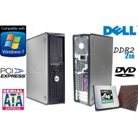 Calculator Dell Optiplex 740 SFF Dual Core Athlon x2 3800 2GB 80 GB HDD DVD-Rom