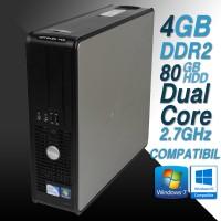Calculator Dell 760 SFF Dual Core 2.7 GHz 4 GB Ram 80 GB HDD Garantie