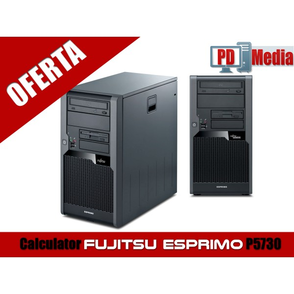 Calculator FUJITSU ESPRIMO P5730 Procesor E5300 2.60GHz 2GB DDR2 80 GB HDD