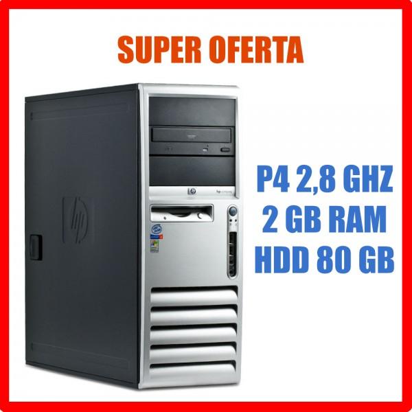 Calculator Tower HP DC 530 2GB RAM P4 2.8 GHz hdd 80 GB