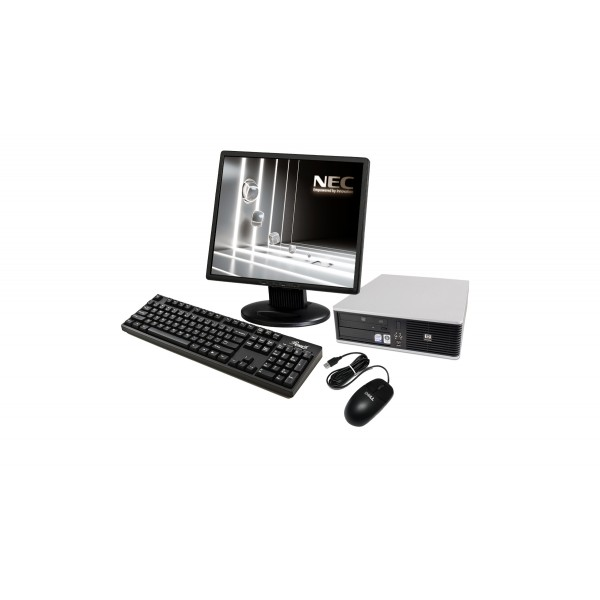 "Calculator HP DC7800 SFF Dual Core E2160 2x1.80GHz 2GB DDR2 80GB Dvd-Rom + Monitor Lcd 17"" Acer, Hp, Dell, Belinea"