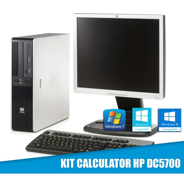 "Kit Calculator HP INTEL Dual Core 2GB Ram 80GB DVD + LCD 17"" + Tastatura si Mouse"