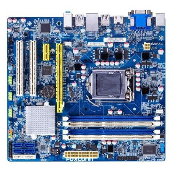 Placa de baza Socket 1155 Foxconn H61M 4 x DDR3 4 x SATA2 PCI-Express HDMI, DVI, VGA