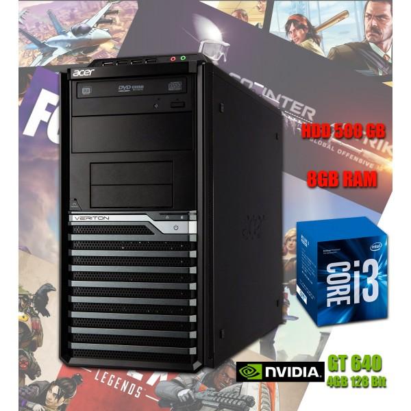 Calculator Gaming Acer i3 3.1GHz 8GB RAM DDR3 HDD 500 Video 4GB DVD
