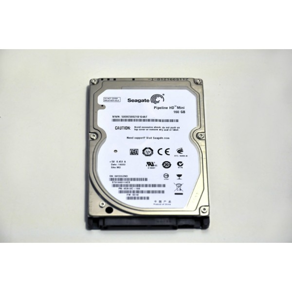 Hard Disk Laptop Seagate Pipeline HD Mini 160 GB 5400 RPM 8 MB SATA 2