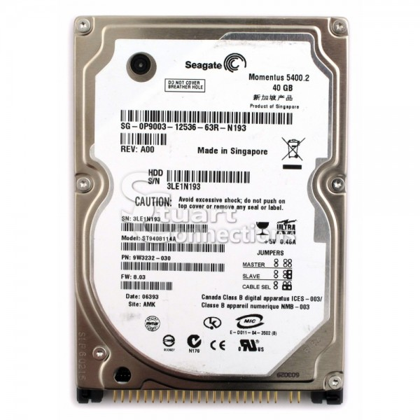 Hard Disk Laptop IDE(ATA) Seagate 40GB