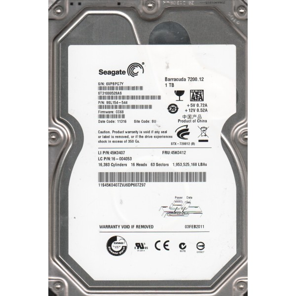 Hard Disk Desktop Second Hand 1000 GB S-ATA 7200 RPM Western Digital , Seagate , Samung