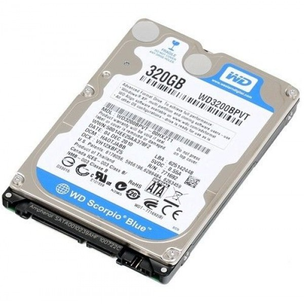 Hard Disk Laptop Western Digital Blue 320 GB 5400 RPM 8 MB SATA 3