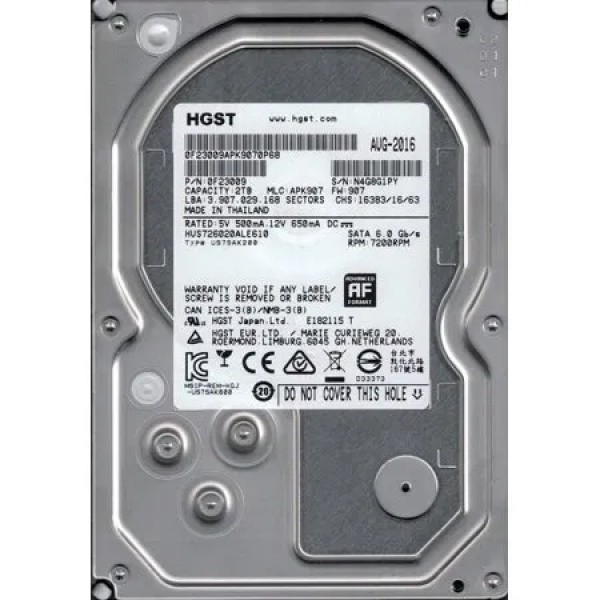Hard Disk 4000 GB, 4 Terra Hitachi 4TB SATA 3.5 7200 rpm Buffer 256 M