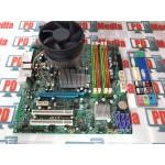 Kit Placa de  Acer MG43M,4 x DDR3, LGA775, 6 x SATA2 , PCI-Express, DVI, VGA + Procesor Dual Core Cooler Cadou