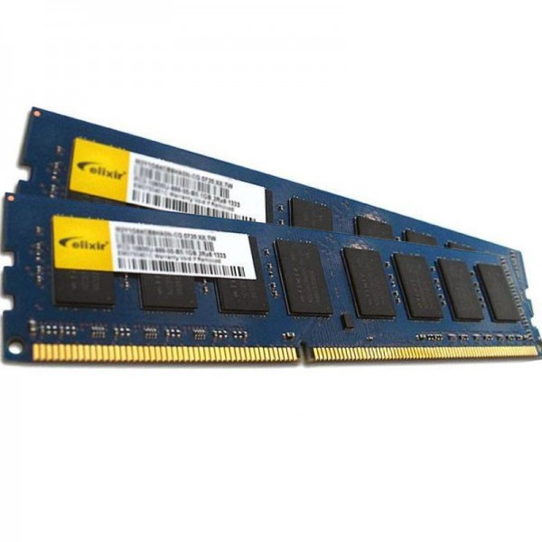 Kit Memorie RAM DDR3 Calculator Elixir 2x2GB (4GB) PC3-10600 1333MHz non-ECC CL9