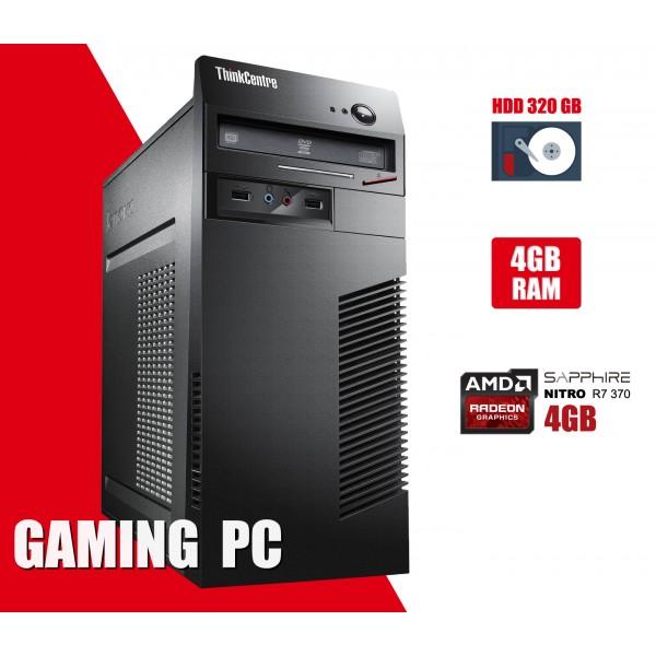 Calculator Lenovo m72 Tower Procesor G550 4GB DDR3 HDD 320GB Video Gaming R7 370 4GB DVD Rom