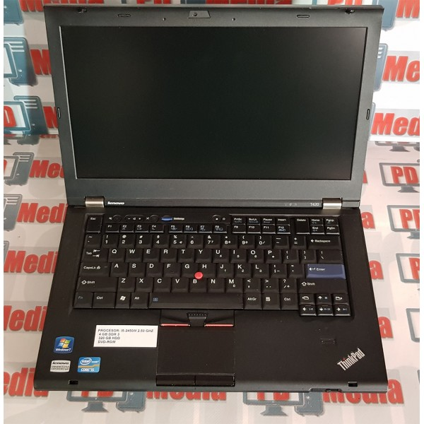 "Laptop Lenovo ThinkPad Intel i5-2410M 2.30 GHZ 4 GB DDR 3 320 GB HDD DVD-ROM  WebCam 14"" T420"