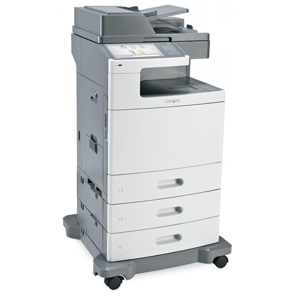 Imprimante laser second hand Lexmark XS796dte Duplex Retea Cabinet Cu Roti