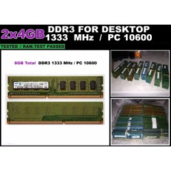 Kit 8GB Memorie RAM DDR3 Calculator 2x4GB 1333MHz