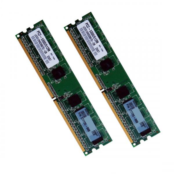 Memorie Desktop DDR2 2x512MB (1GB) Frecventa 667 MHz Diverse Firme