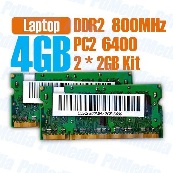 Memorie Laptop DDR2 2x2 GB (4GB) 800 MHz PC 6400 Testate Garantie 6 Luni