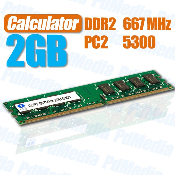 Memorie Ram Calculatator 2GB DDR2 667Mhz Pc5300 2048 Mb
