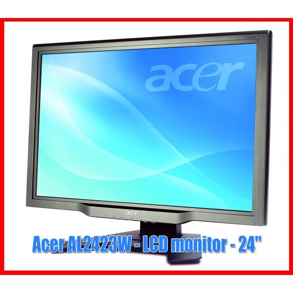 "Monitor Acer AL2423W 24"" inch Widescreen LCD Boxe integrate"