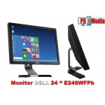 "Monitor LCD 24"" Dell E248WFP Negru Anti Glare Hard Coating 1920 x 1200 5 ms Grad A"