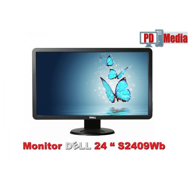 """Monitor LCD 24"""" Dell Rezolutie 1920 x 1080, 16,7 milioane de culori, HDMI, DVI, VGA  Grad A"""