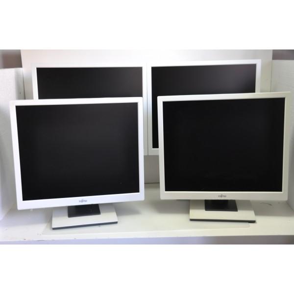 "Lot 10 monitoare LCD 19"" grad A ,pentru jocuri de noroc,albe, Fujitsu Siemens"