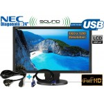 "Monitor LCD 24"" Wide NEC Categoria A+ EA241WM Boxe Incluse Full HD 1920 x 1200"