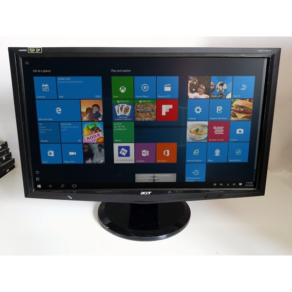 Monitor LCD Acer 23.6'', Wide, DVI, HDMI, Negru, GD245HQ 2 ms 1920 x 1080 Categoria B