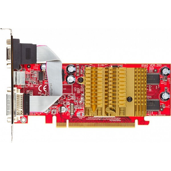 Placa Video MSI RX300HM 128 MB 64 Bit PCI-Express