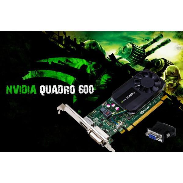Placa Video PCI-E NVDIA Quadro 600 1GB DDR3 128BIT DVI RACIRE ACTIVA