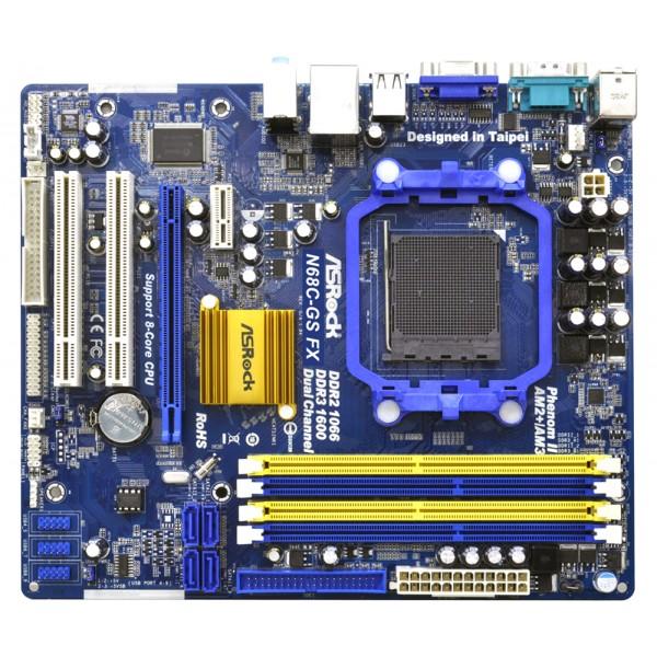 PLaca de Baza ASRock Socket AM3+ N68C-GS FX MAX 8 GB Retea Gigabit