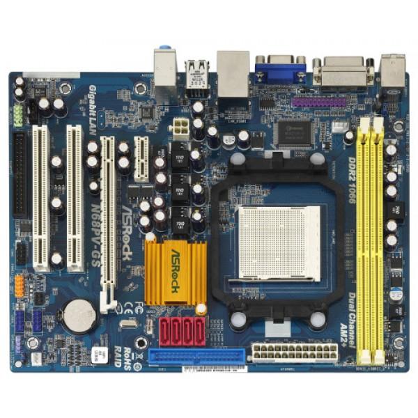 Placa de Baza AsRock N68PV-GS Socket AM2 Suporta Blu-ray Full HD 1080p NVIDIA PureVideo