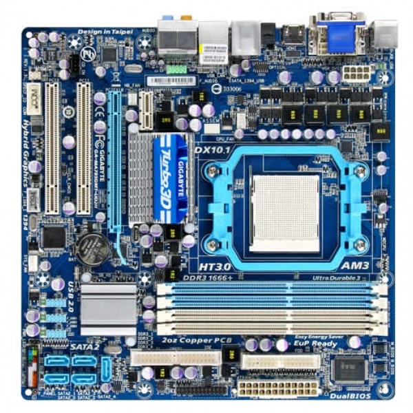 Placa de Baza Gigabyte GA-MA785GMT-UD2H Socket AM3 MAX 16 GB
