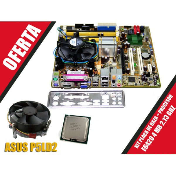 Kit Placa De Baza Asus P5LD2 + Core 2 Duo E6420 2.13 GHZ 4 Mb Cache