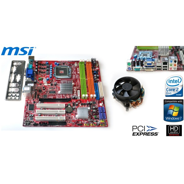 Kit Placa de Baza + Procesor 775 Core2Duo E8400 Audio & Video Integrat
