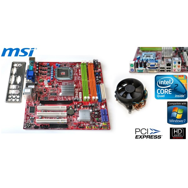Kit Placa de Baza + Procesor 775 Quad Core Q6600 Audio & Video Integrat