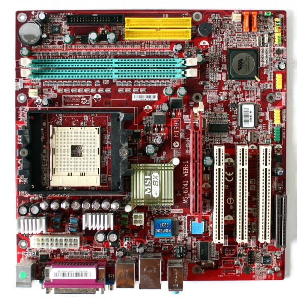 Placa de Baza Socket 754 MSI MS-6741 Athlon 64 Memorie 2 GB PCI Video si Sunet Integrat