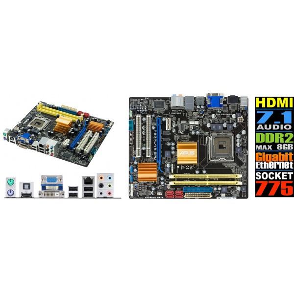 Placa De Baza Asus P5QPL-VM EPU 1 x PCIe x16 1 x PCIe x1 2 x PCI 2 x240-pin DIMM, Max. 8 GB, DDR2