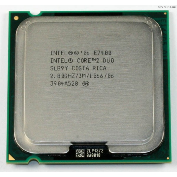 Procesor Core2Duo E7400 2.8GHz socket 775 3MB cache 1066FSB