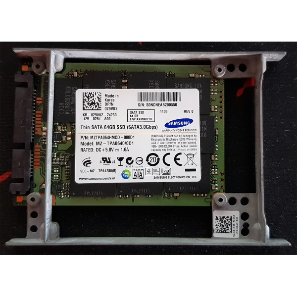 SSD 64GB Thin Samsung SATA Intern