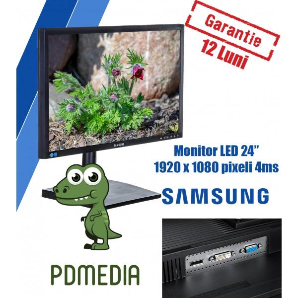 Monitor LED Samsung LS24E65UDW 24 inch 4 ms Black PLS(IPS) 1920x1080 Grad A