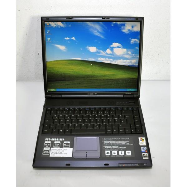 """Laptop Sony VAIO 15"""" 2.0GHz P4-M 1GB RAM 40 GB Dvd Rom Wi-Fi"""