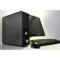 "Kit Calculator Dell Optiplex 755 E5400 2GB 160GB  + Monitor Fujitsu Siemens 17"" + Tastatura ,Mouse"